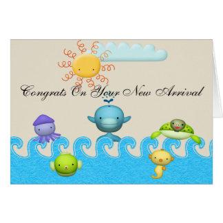Cute Sea Animals Baby Shower Card