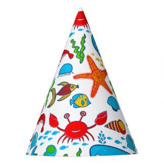 Cute Sea Animals - Happy Birthday Party Hat
