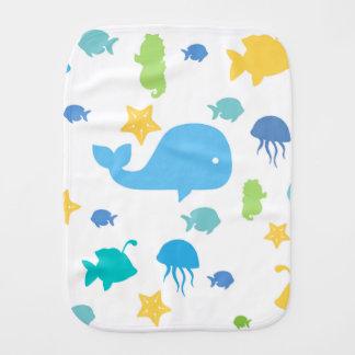 Cute Sea Creatures Burp Cloth