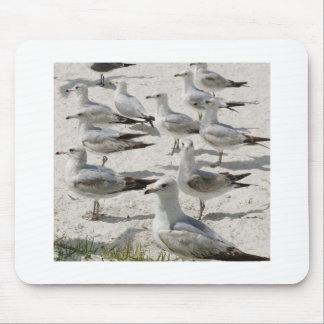Cute sea gulls mouse pad