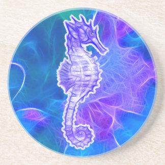 Cute Sea Horse Marine Animal Gift Beverage Coasters