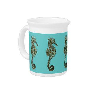 Cute Sea Horse Marine Animal Gift Pitcher