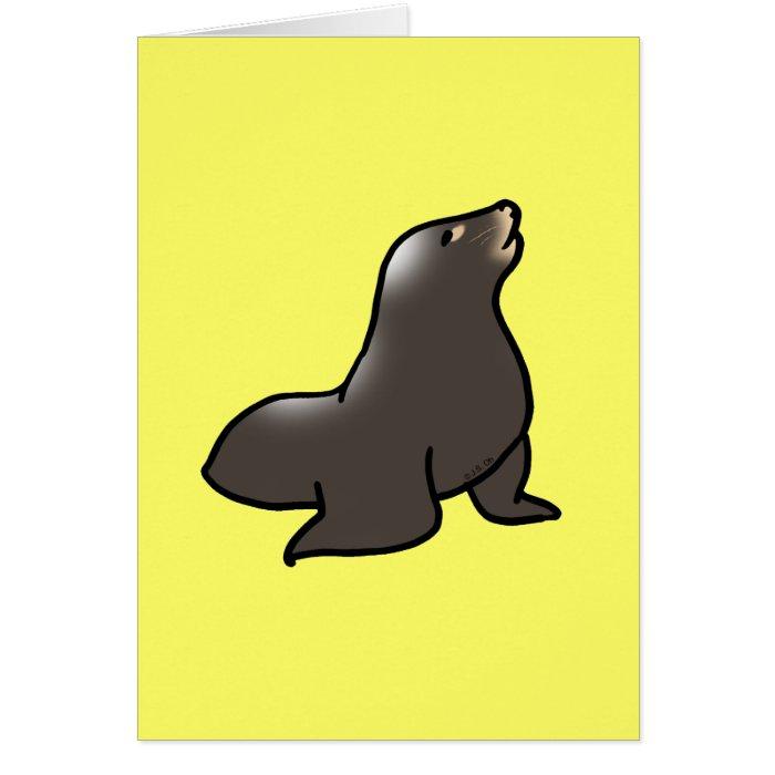 Cute sea lion card