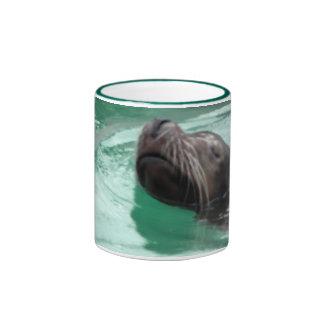 Cute Sea Lion Swimming Coffee Mugs