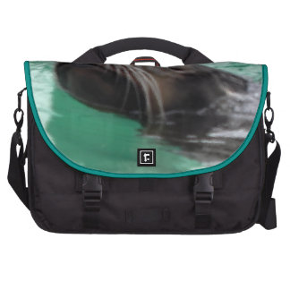 Cute Sea Lion Swimming Textured Look Commuter Bags