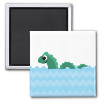 Cute Sea Monster 2 Inch Square Magnet