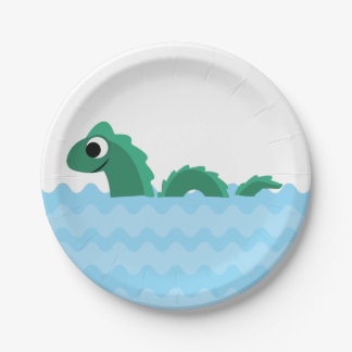 Cute Sea Monster Paper Plate