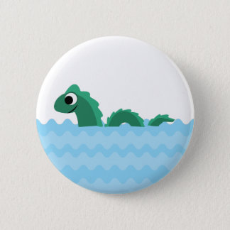 Cute Sea Monster Pinback Button