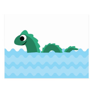 Cute Sea Monster Postcard