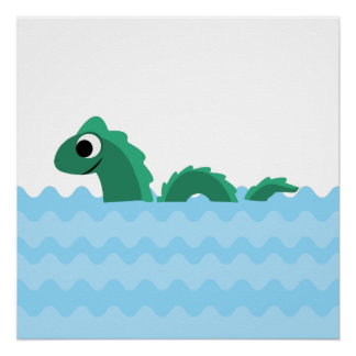Cute Sea Monster Poster