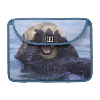Cute Sea Otter   Alaska, USA MacBook Pro Sleeve