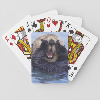 Cute Sea Otter | Alaska, USA Playing Cards