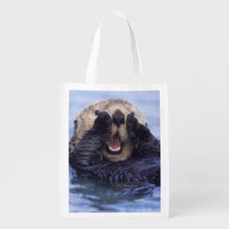 Cute Sea Otter | Alaska, USA Reusable Grocery Bag