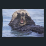 "Cute Sea Otter | Alaska, USA Towel<br><div class=""desc"">NA,  USA,  Alaska Sea otters are the largest members of the weasel family in North America � Daisy Gilardini / DanitaDelimont.com</div>"