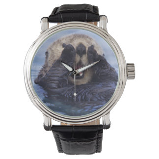 Cute Sea Otter | Alaska, USA Wrist Watch