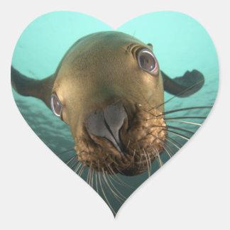 Cute Sea Otter Heart Sticker