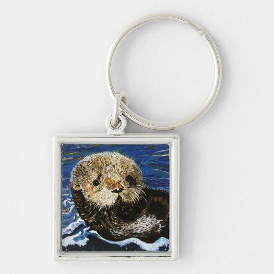 Cute Sea Otter Keychain