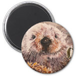 Cute Sea Otter Refrigerator Magnet Gift