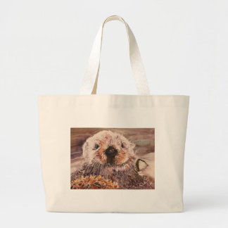 Cute Sea Otter Tote Bag Gift