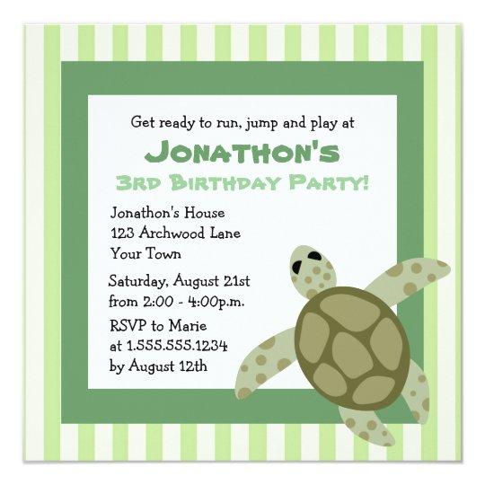 Cute sea turtle birthday party invite green zazzle cute sea turtle birthday party invite green filmwisefo