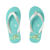 Cute Sea Turtle Flops, Kids Kid's Flip Flops