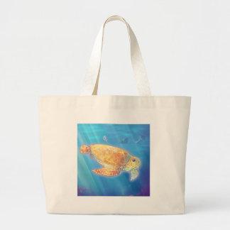Cute Sea Turtle Large Tote Bag