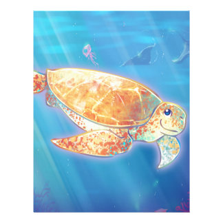 Cute Sea Turtle Letterhead