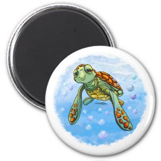 Cute Sea turtle magnet
