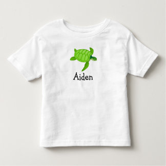 Cute sea turtle personalized with childs name toddler t-shirt