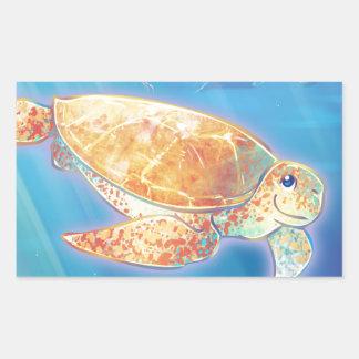 Cute Sea Turtle Rectangular Sticker