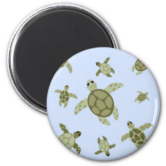 Cute Sea Turtles 2 Inch Round Magnet