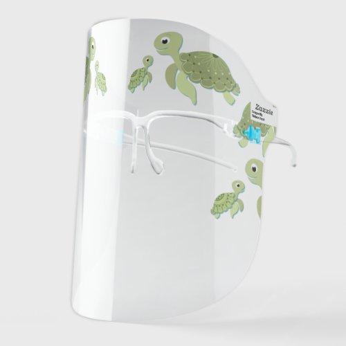 Cute Sea Turtles Face Shield