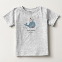 Cute Sea Whale | Baby Boy | T-shirt