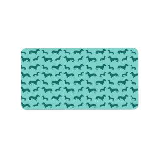 Cute seafoam green dachshunds custom address labels