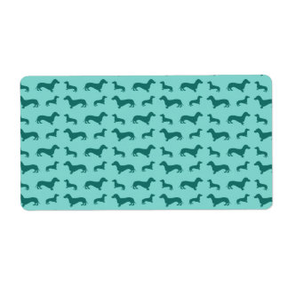 Cute seafoam green dachshunds shipping labels