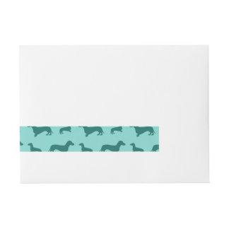 Cute seafoam green dachshunds wraparound address label