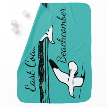 Beach Themed Cute Seagull Beach East Coast Beachcomber baby Stroller Blanket