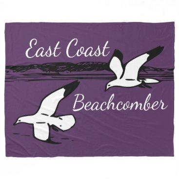 Beach Themed Cute Seagull Beach East Coast Beachcomber blanket