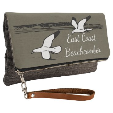 Beach Themed Cute Seagull Beach East Coast Beachcomber clutch