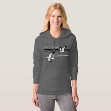 Beach Themed Cute Seagull Beach East Coast Beachcomber hoodie