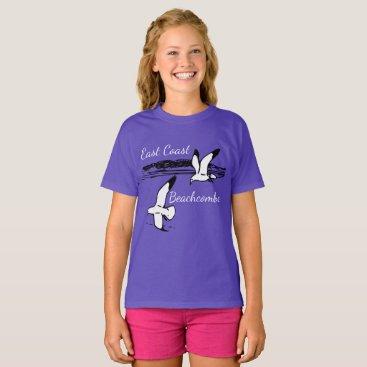 Beach Themed Cute Seagull Beach East Coast Beachcomber shirt