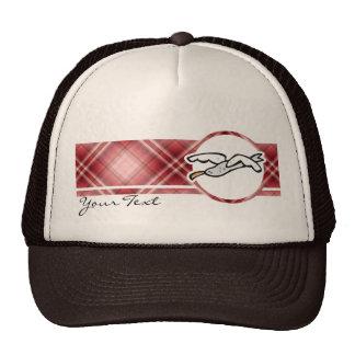 Cute Seagull; Red Plaid Trucker Hat