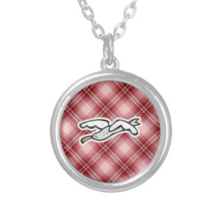 Cute Seagull; Red Plaid Pendants