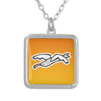 Cute Seagull; Yellow Orange Custom Necklace