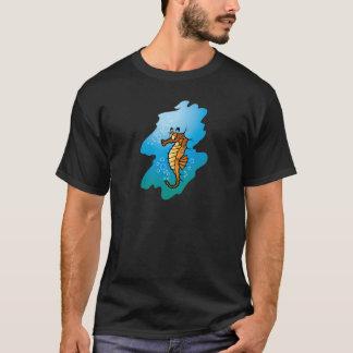 Cute Seahorse Cartoon T-Shirt