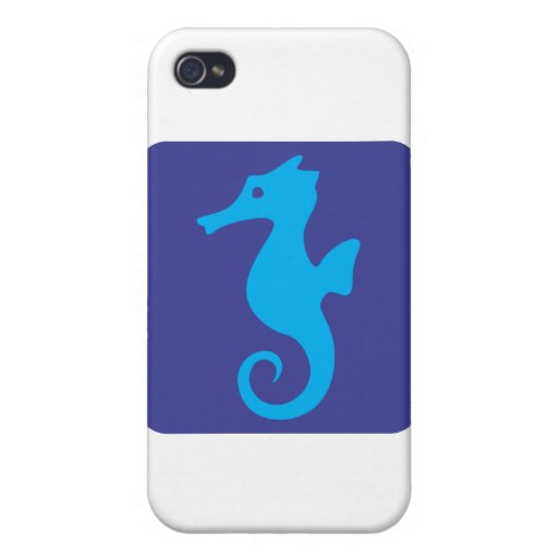Cute Seahorse Icon iPhone 4/4S Covers