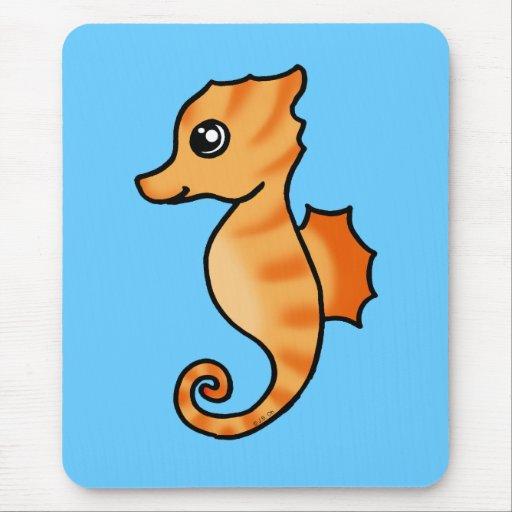 cute seahorse mouse pad