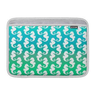 Cute Seahorse Pattern on Blue Green MacBook Air Sleeve