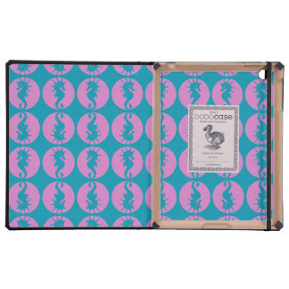 Cute Seahorses in Pink and Teal iPad Covers