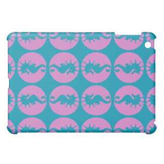 Cute Seahorses in Pink and Teal Cover For The iPad Mini